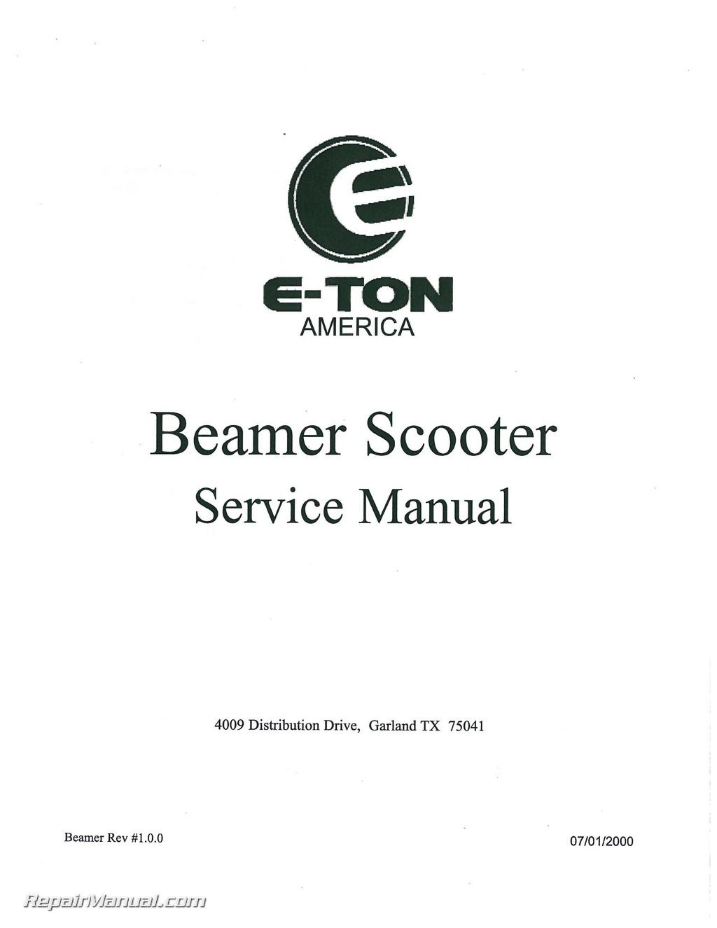 eton beamer scooter service manual. Black Bedroom Furniture Sets. Home Design Ideas