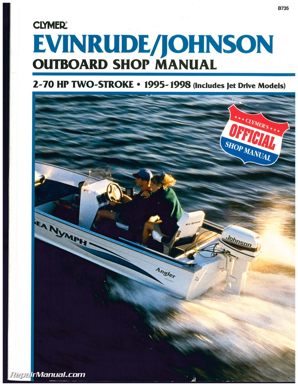 Used Evinrude Johnson 2-70 HP 2-Stroke Outboard Boat Shop Manual 1995 1996  1997 1998