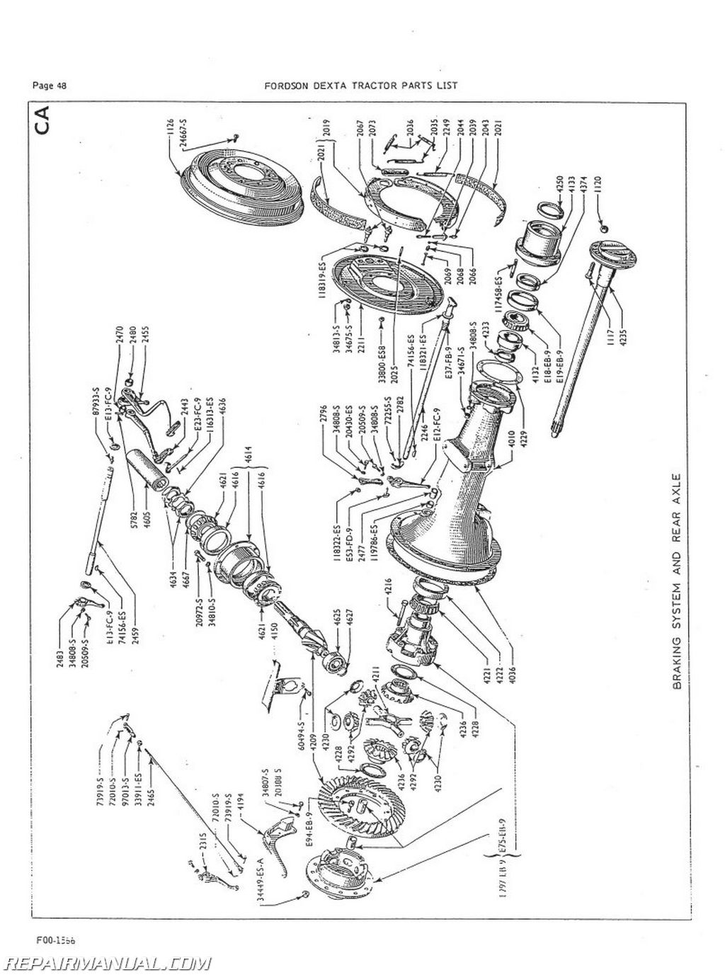 Fordson Dexta And Super Dexta Factory Parts Manual Js Fo P Dexta on ford 5000 tractor parts diagram