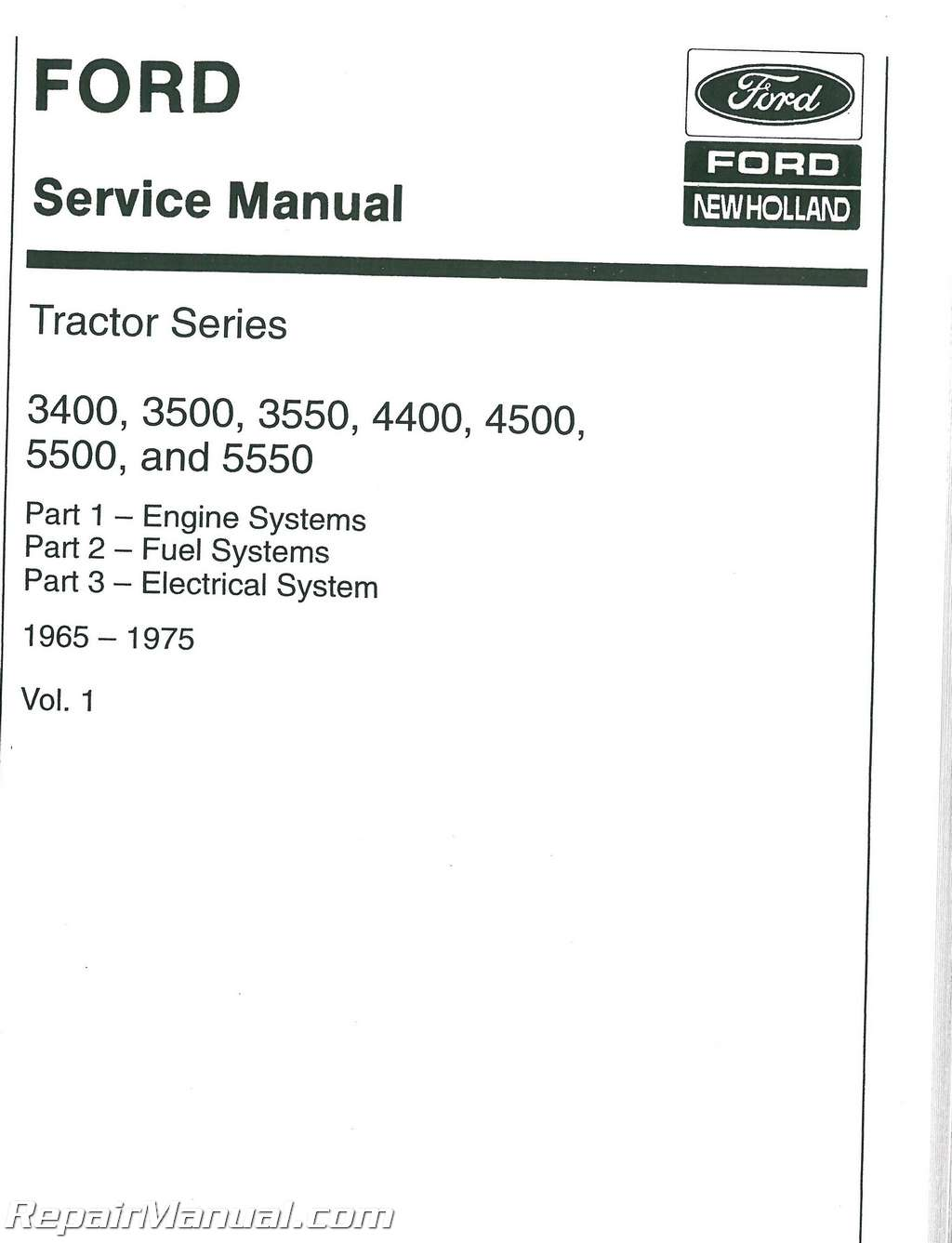 background image Array - ford 3400 3500 3550 4500 ind 3 cyl tractor only 65  75 service manual ...