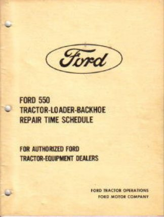 Official Ford 550 Repair Time Schedule Manual