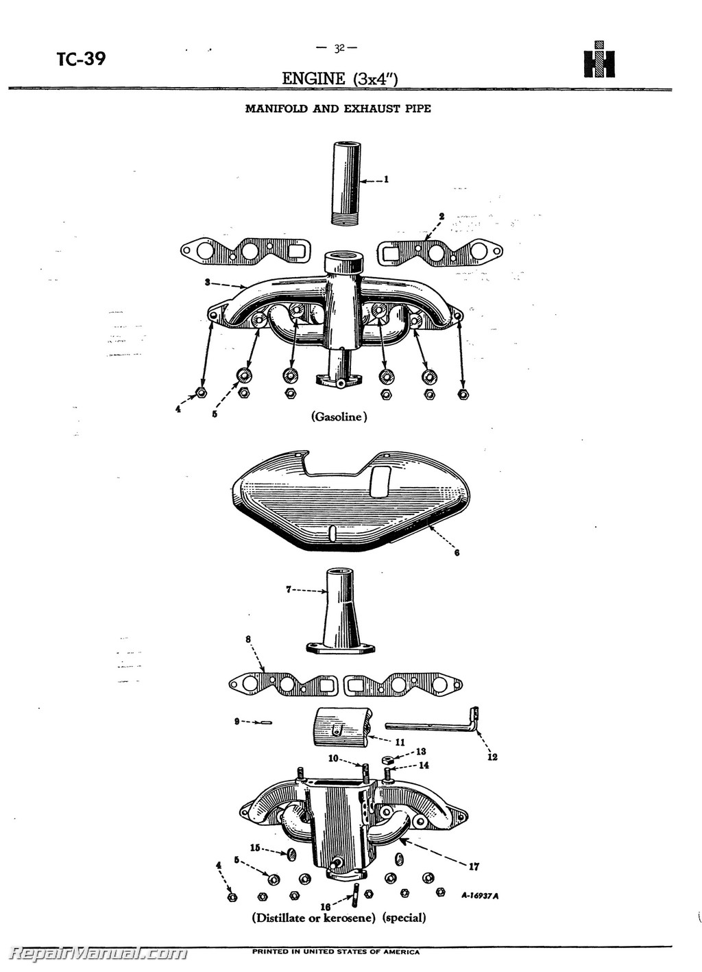 farmall m rear axle parts diagram