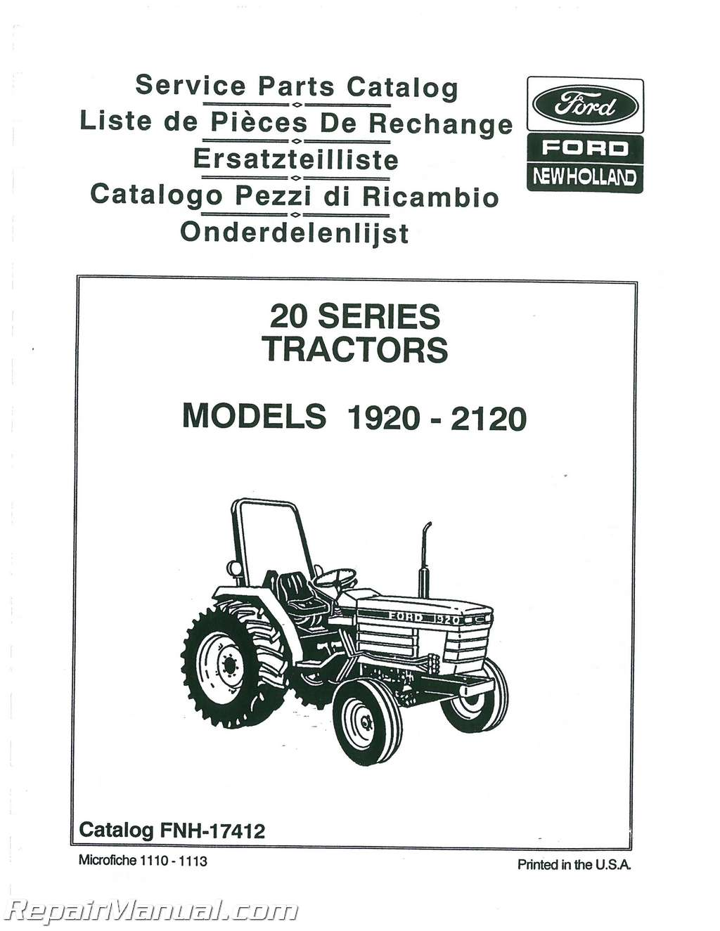 New Holland Tractor Manuals : Ford  tractor parts manual