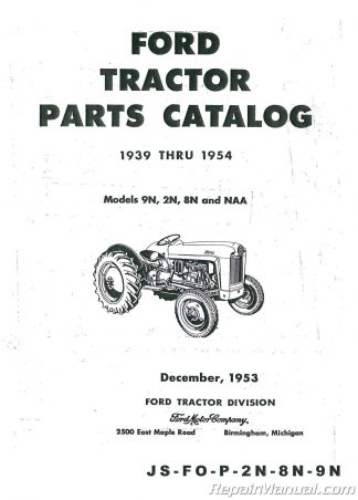 Ford New Holland Tractor Parts Manual