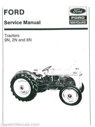 ford 2n 8n and 9n tractor service manual