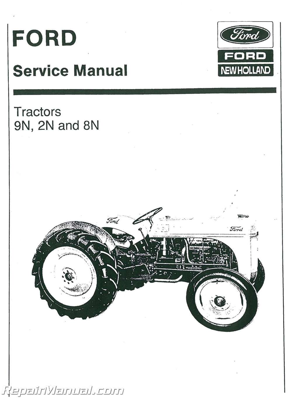 Ford 8n Tractor Owners Manual Steering 2n And 9n Service Rh Repairmanual Com Download
