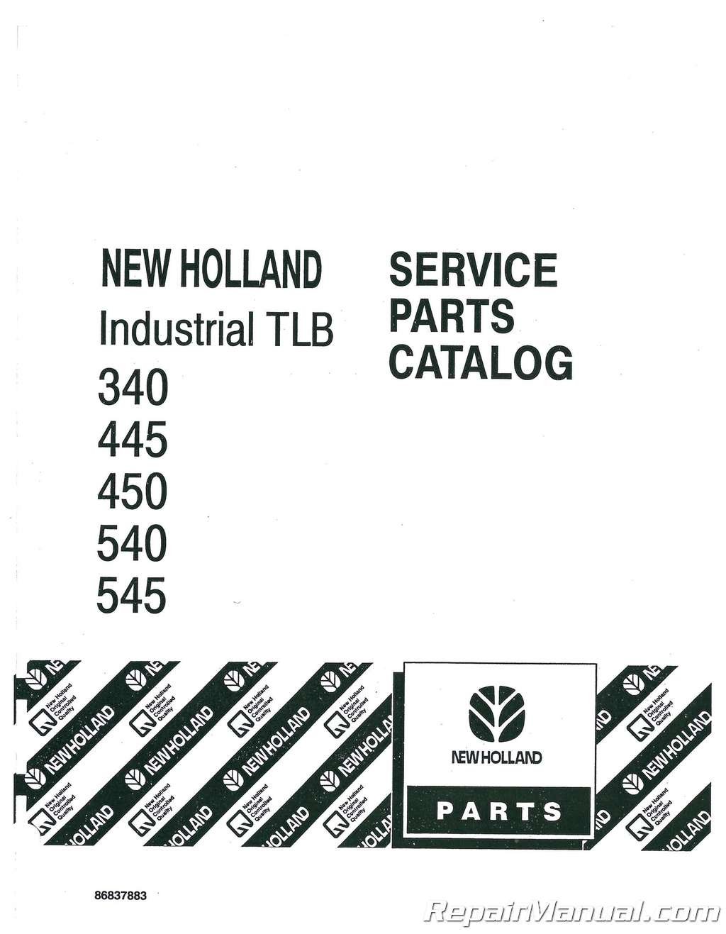 Ford 340 445 450 540 545 Tractor Parts Manual  Ford Backhoe Wiring Diagram on