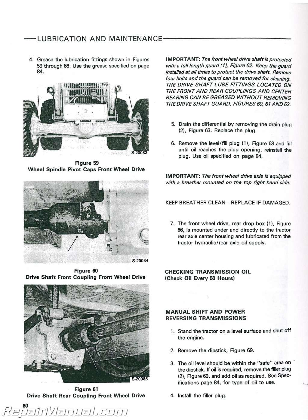Ford 640 tractor operator Manual