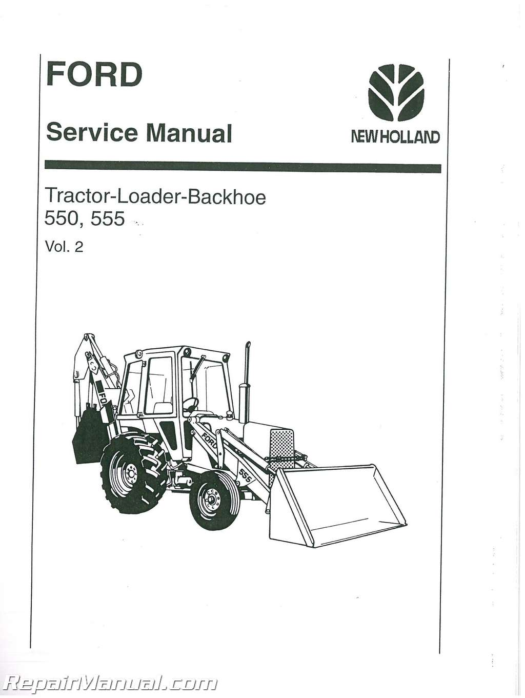 ford 550 and 555 tractor service manual. Black Bedroom Furniture Sets. Home Design Ideas