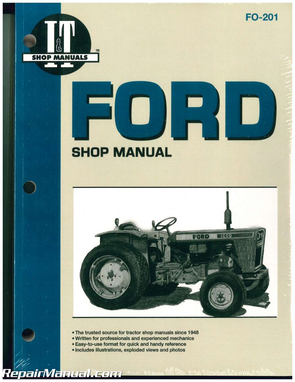 Ford Fordson Tractor Repair Manual Dexta Super Dexta Major Diesel Super Major