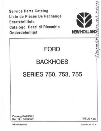 Ford CL30 CL40 Skid Steer Operators Manual