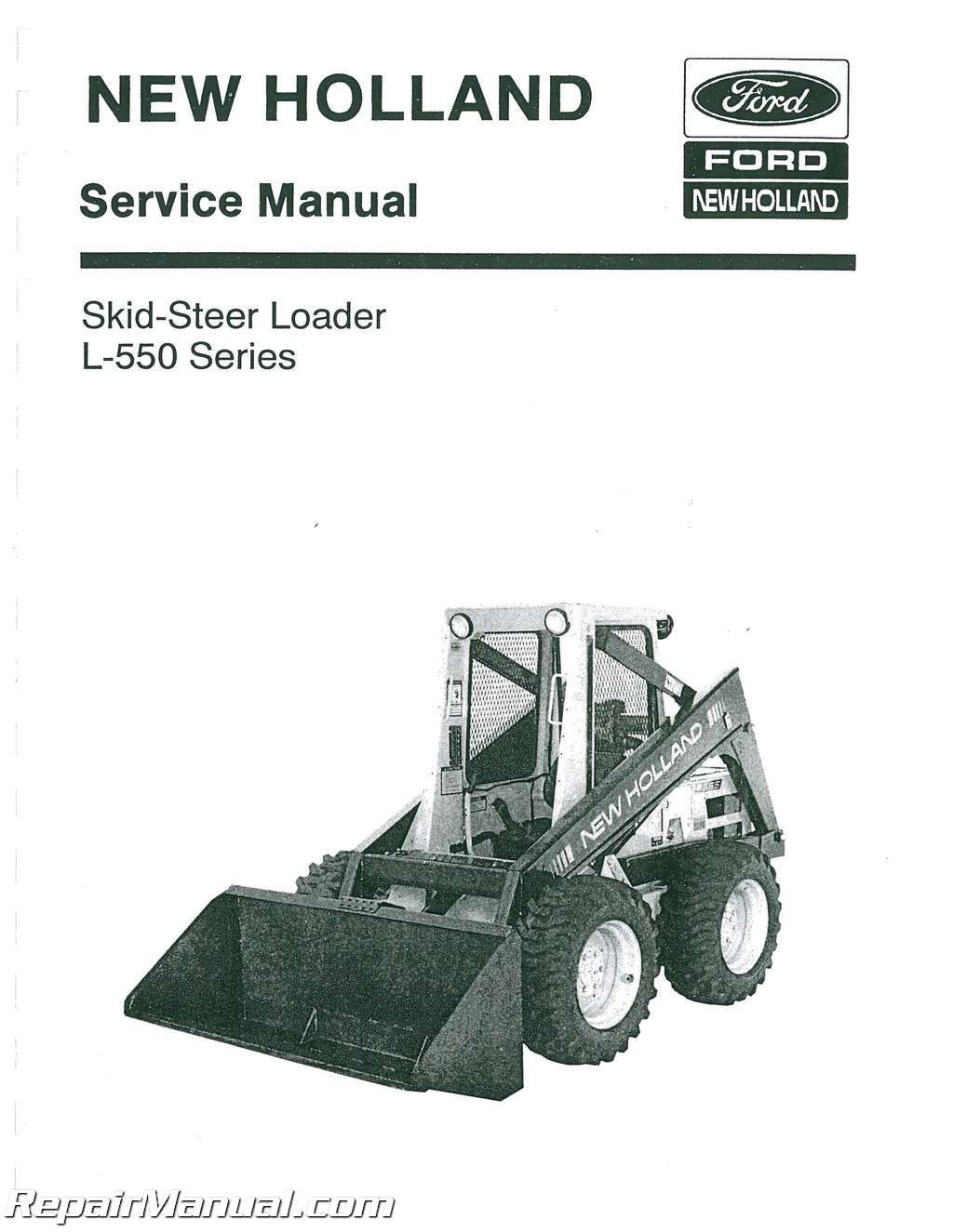 ford l550 l553 l554 l555 skid steer chassis service manual ebay rh ebay com  New Holland