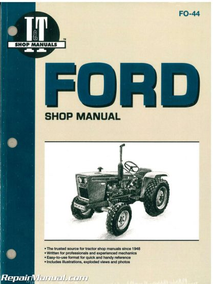 Ford New Holland 1100 1110 1200 1210 1300 1310 1500 1510 1700 1710 1900  1910 2110 Tractor Manual