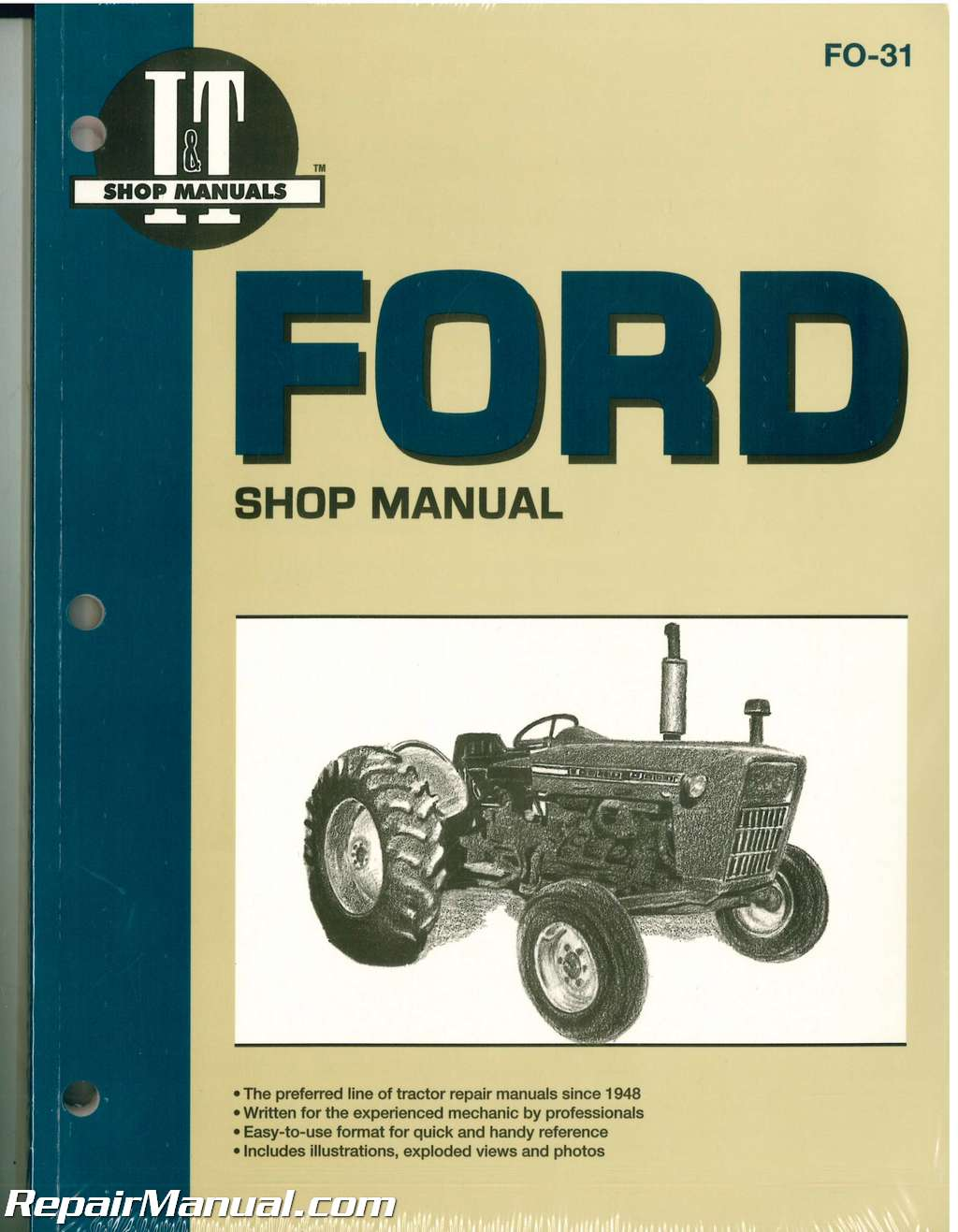 Ford New Holland 2000, 3000, 4000 3-Cylinder Pre 1975 Tractor Repair Manual