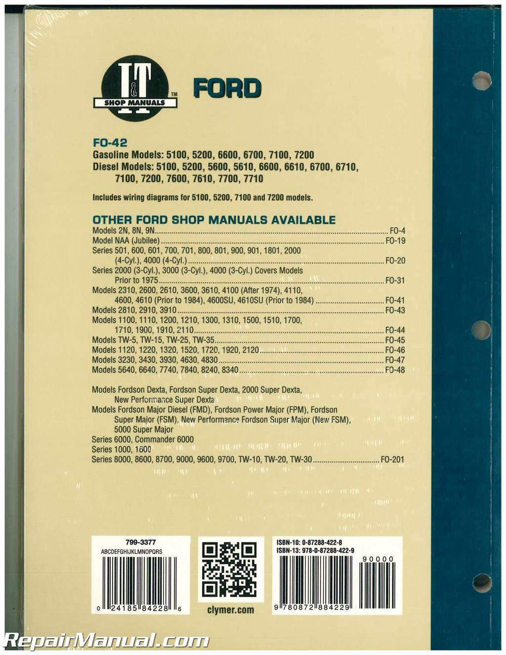 Ford New Holland 5100 5200 5600 5610 6600 6610 6700 6710 7100 7200 7600 7610
