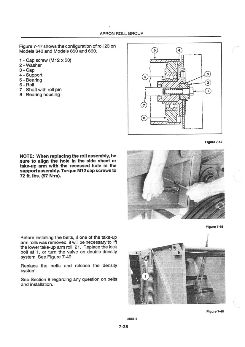 ford new holland 630 640 650 660 large round baler service manual rh repairmanual com Old New Holland Balers new holland 644 baler operators manual