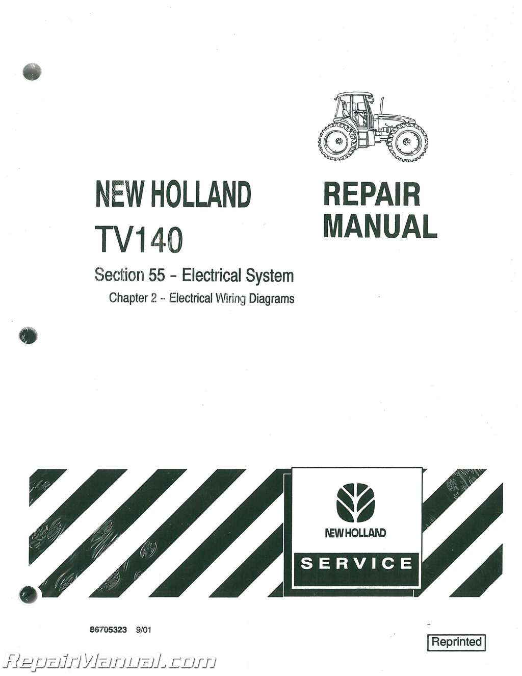 ford new holland tv140 bidirectional 4wd dsl tractor service manual rh repairmanual com