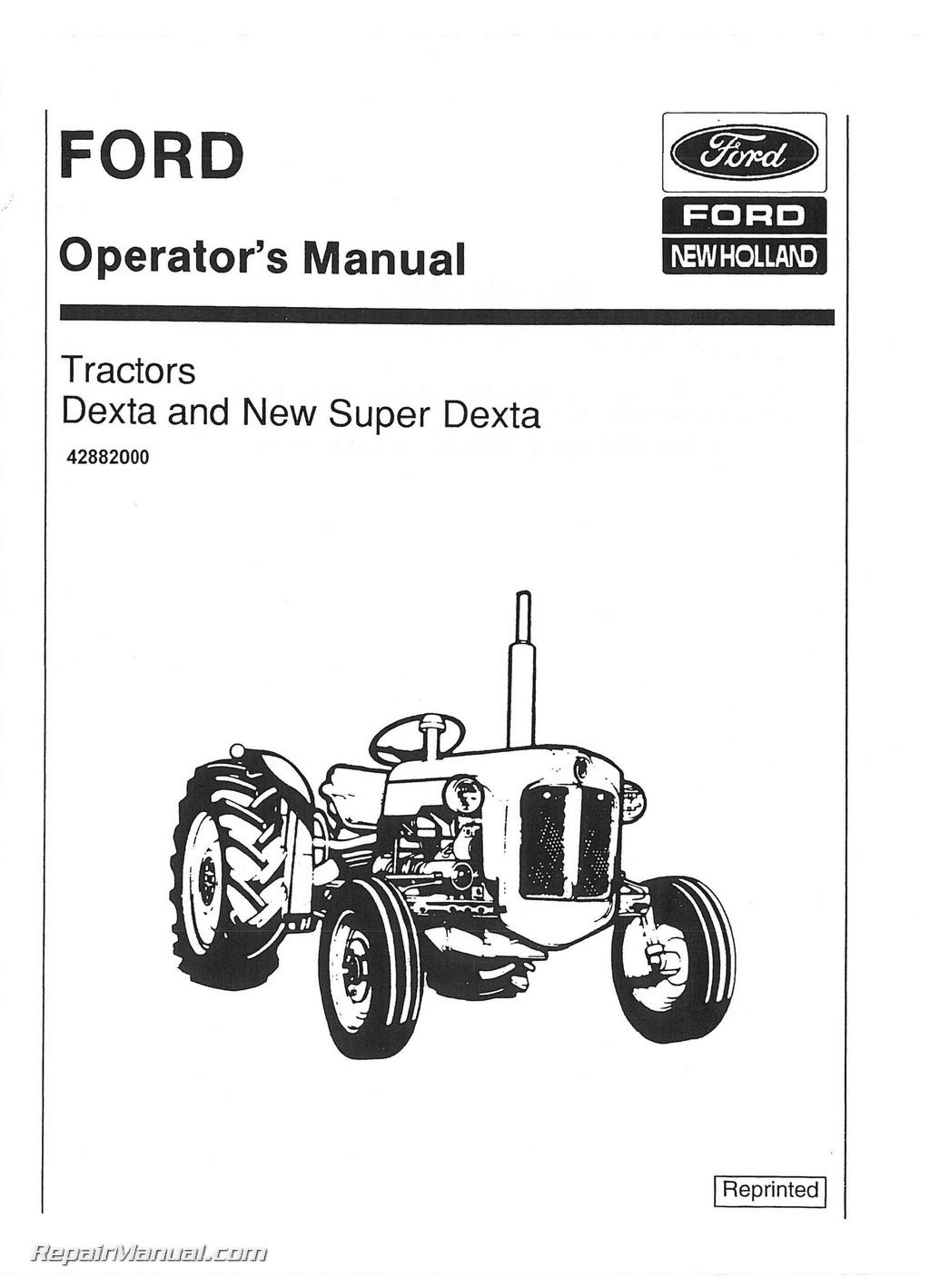 fordson dexta super dexta operators manual rh repairmanual com fordson major diesel tractor manual fordson dexta service manual