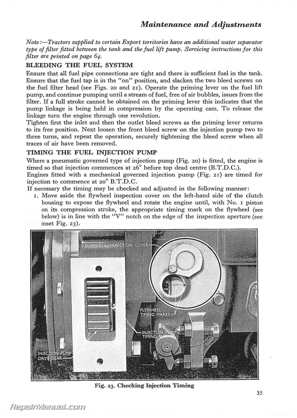 fordson dexta super dexta operators manual rh repairmanual com fordson major diesel tractor manual fordson super major tractor manual free download