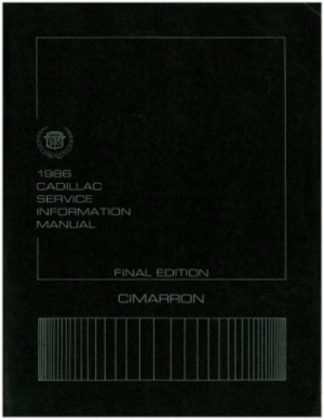 1986 Cadillac Cimarron Service Information Repair Manual Used