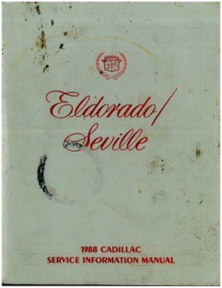 1988 Cadillac Eldorado Seville Service Information Manual Used