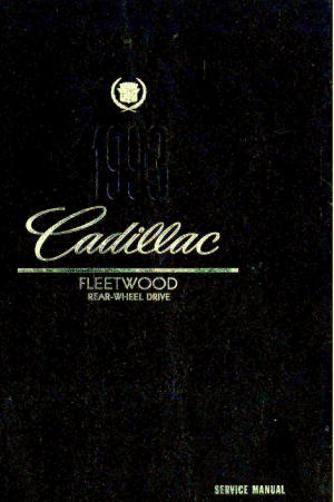 Used 1993 Cadillac Fleetwood Factory Service Manual
