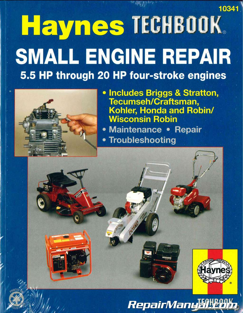 Haynes Small Engine Repair Haynes Techbook 5 5 Hp Through