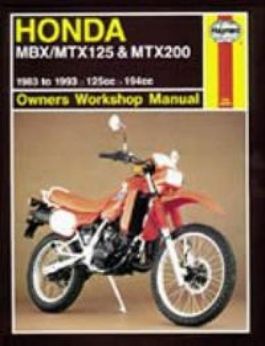 haynes 1983 1993 honda mbx mtx 125 mtx 200 repair manual rh repairmanual com 2002 Honda Odyssey Radio Wire Diagram honda mtx 125 wiring diagram