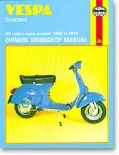 vespa scooter service manual 1959 1978 by haynes rh repairmanual com Used Vespa Scooter Sale vespa scooter manual download