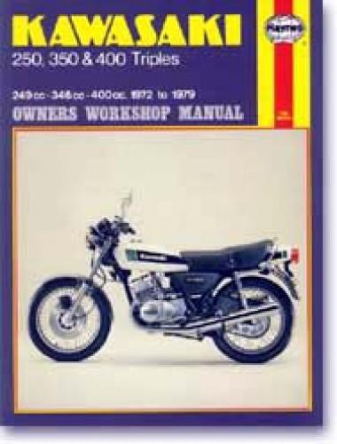 S1 S2 S3 KH Triple 1972-1979 Kawasaki Motorcycle Repair Manual Haynes