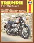Haynes Triumph Trident BSA Rocket 3 1969-1975 Owners Workshop Manual