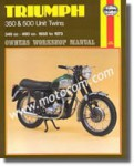 Haynes Triumph 350 500 Unit Twins 1957-1973 Owners Workshop Manual