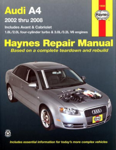 Haynes Audi A4 2002-2008 Auto Repair Manual