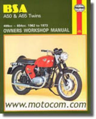 1961-1973 BSA A50 A65 Twins Owners Workshop Manual by Haynes