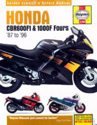 Haynes Honda CBR600F1 1000F Fours 1987-1996 Service Manual