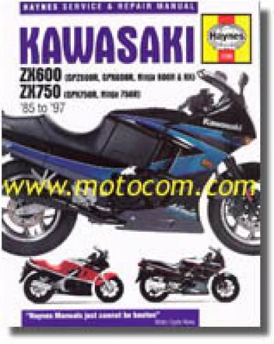 haynes kawasaki zx600 750 ninja 1985 1997 repair manual rh repairmanual com 2014 Ninja 636 2007 Kawasaki ZX600