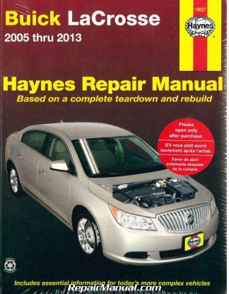 buick lacrosse 2005 2013 haynes repair manual rh repairmanual com Buick LeSabre Parts Manual Buick Enclave Service Manual