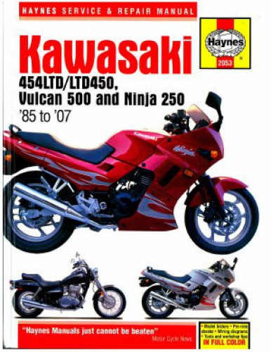 Haynes Kawasaki EX250 Ninja 454LTD Vulcan 500 1985-2007 Repair Manual