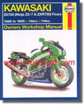 Haynes Kawasaki ZX750 Ninja ZX-7 ZX-7R Fours 1989-1995 Service Manual
