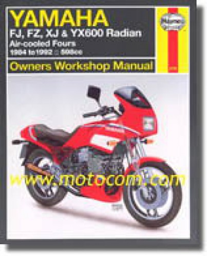yamaha fj fz xj yx600 radian 1984 1992 haynes motorcycle. Black Bedroom Furniture Sets. Home Design Ideas