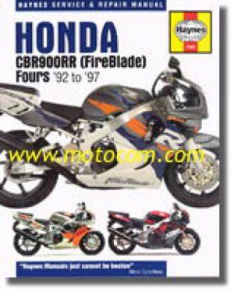 1992-1999 Honda CBR900RR Fireblade Repair Manual by Haynes