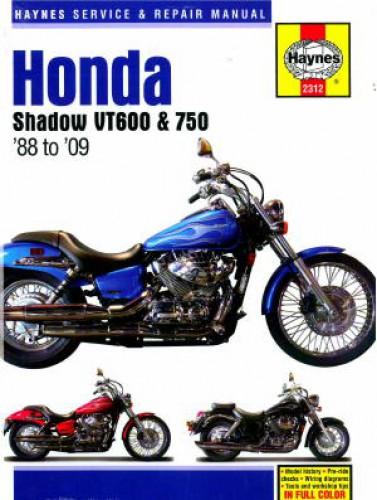 haynes 1988 2009 honda shadow vt600 vt750 repair manual rh repairmanual com Honda VT750CD2 Honda VT750CD2