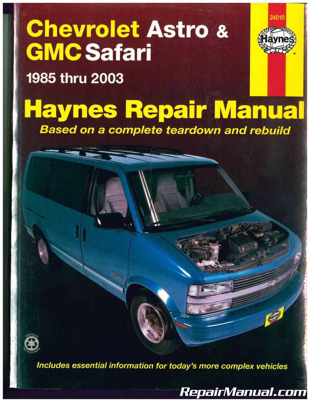 haynes chevrolet astro gmc safari mini vans 1985 2003 auto repair manual rh repairmanual com 1994 GMC Safari Dashboard 1994 GMC Safari XT
