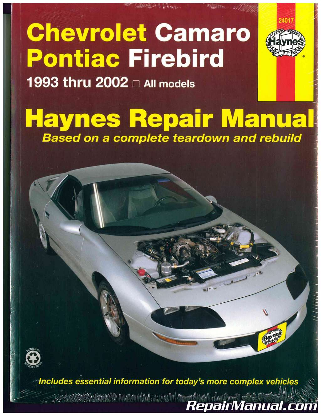 1993-2002 Chevrolet Camaro and Pontiac Firebird Automobile Repair Manual by  Haynes