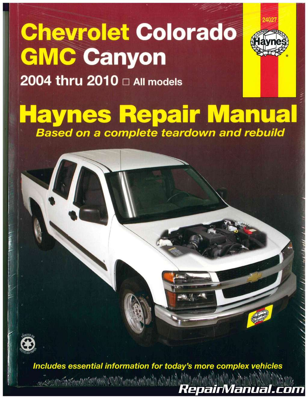 Haynes Chevrolet Colorado GMC Canyon 2004 – 2010 Auto Repair Manual