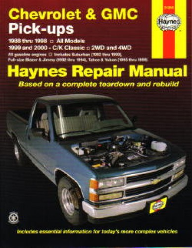 Haynes Chevrolet Gmc Pickup Trucks 1988