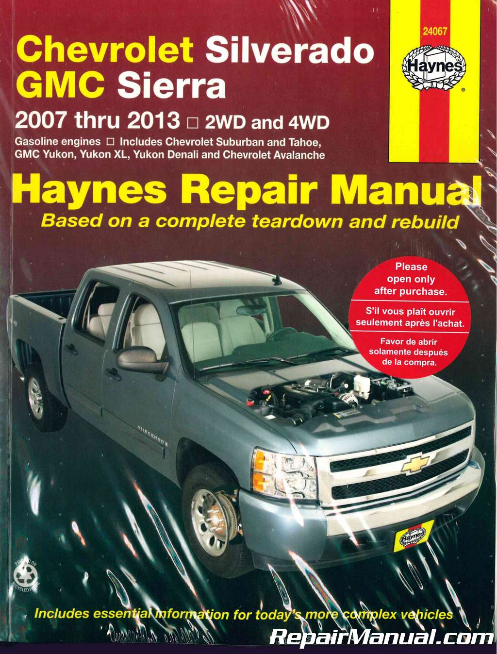 2007 2013 Chevrolet Gmc Pick Up Haynes Truck Repair Manual