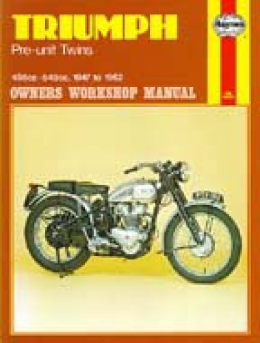 haynes triumph pre unit 1947 1962 twins motorcycle owners workshop rh repairmanual com triumph speed twin user manual Triumph Parallel Twin -Engine Diagram