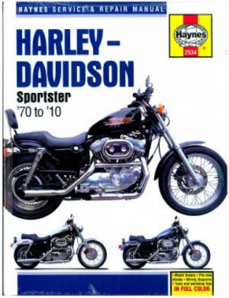 Used 1970-2010 Harley-Davidson Sportster XL 883 1200 Motorcycle Service  Repair Manual