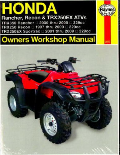 honda trx350 trx250 1997 2009 haynes atv repair manual rh repairmanual com atv repair manuals free atv repair manuals online